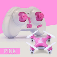 Mini Quadcopter Drone Remote Control Toy with LED Lights Pink Toys