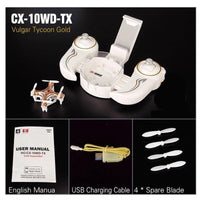 Mini Quadcopter Drone with 0.3MP Camera and Smartphone Dock CX 10WD TX Gold Toys