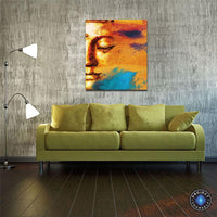 Modern Abstract Sunset Buddha Canvas Painting Painting
