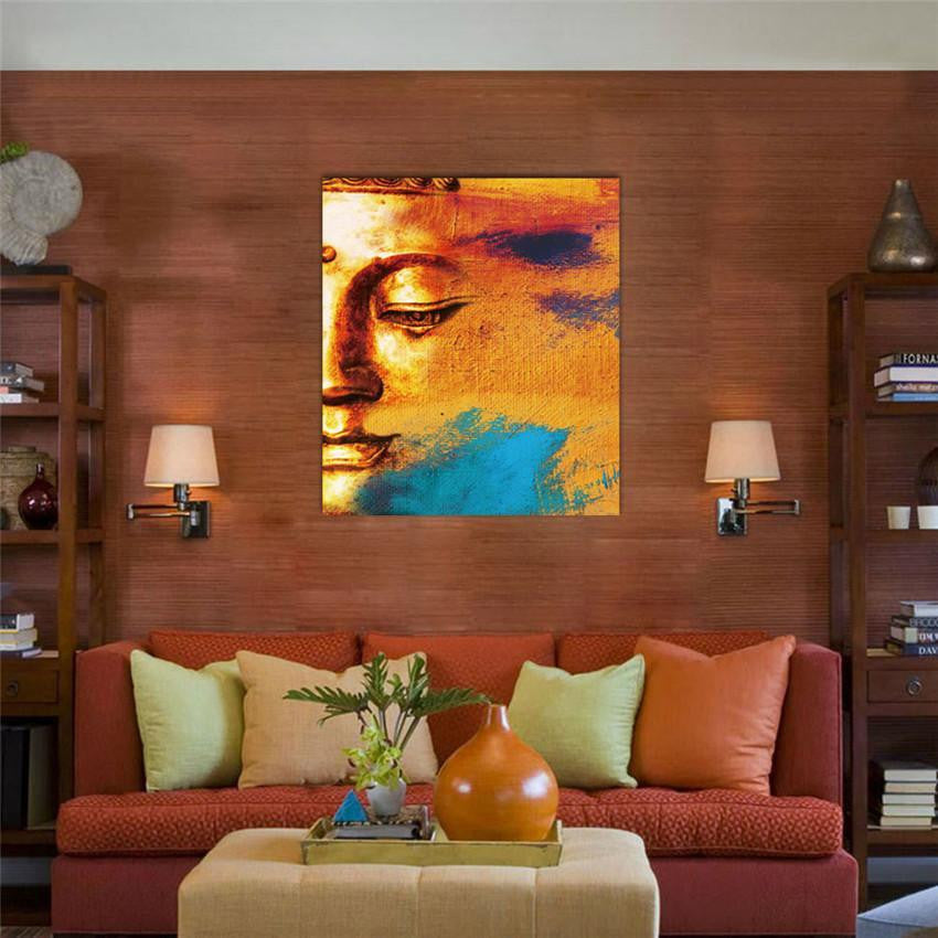 ... Modern Abstract Sunset Buddha Canvas Painting Painting Part 92