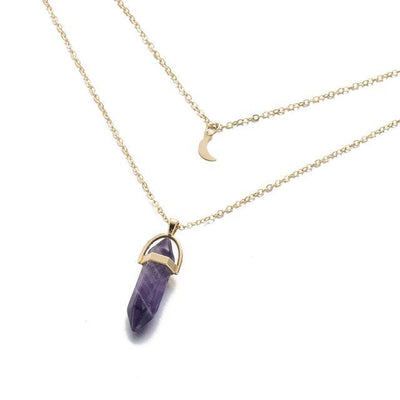 Moon Child Crystal Necklace Amethyst Necklace
