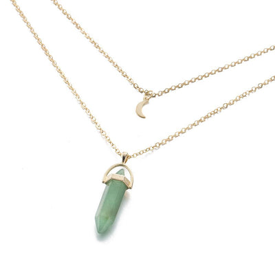 Moon Child Crystal Necklace Green Aventurine Necklace