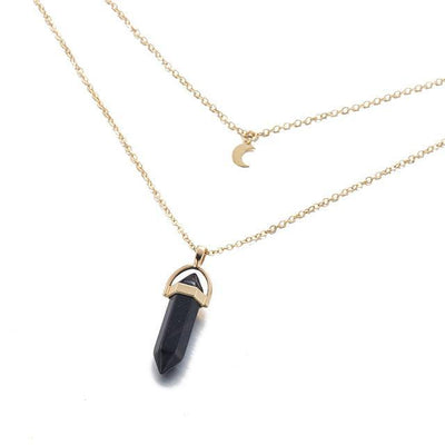 Moon Child Crystal Necklace Obsidian Necklace