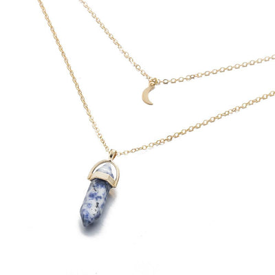 Moon Child Crystal Necklace Sodalite Necklace