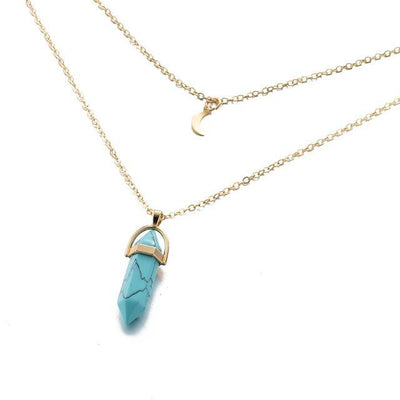 Moon Child Crystal Necklace Turquoise Necklace