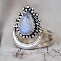 Moon Dew Moonstone Ring Rings