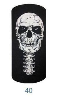 Multifunctional Seamless Bandana Black w/ Skull & Spine Bandana