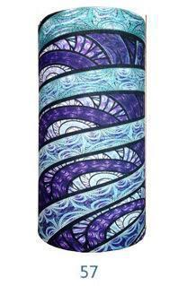 Multifunctional Seamless Bandana Blue & Purple Art Bandana