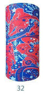 Multifunctional Seamless Bandana Blue & Red Outdoor Sports Bandana