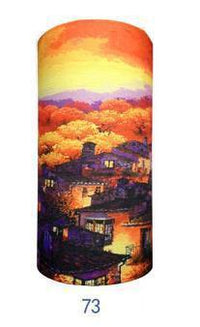 Multifunctional Seamless Bandana Houses Autumn Sunset Bandana
