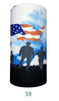 Multifunctional Seamless Bandana Sky USA Soldiers Bandana