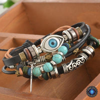 Multilayer Spiritual Leather Bracelet- Adjustable and Unisex Bracelet