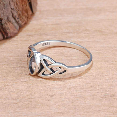 Mystic Triquetra Ring Rings