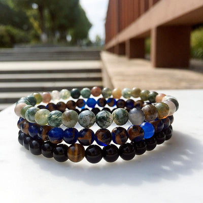 Natural Agate Beads Bracelet Set Bracelet