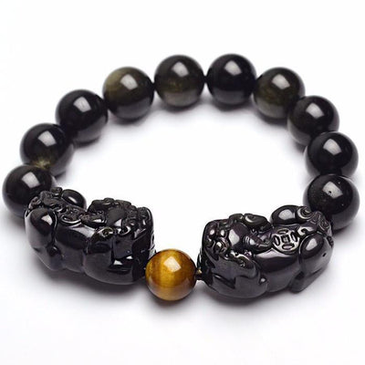 Natural Golden Sheen Obsidian Dragon Bracelet Bracelet