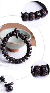 Natural Peach Wood Meditation Bracelet Bracelet