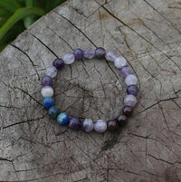 Natural Stone 108 Spirit Mala Bracelet / Purple Mala