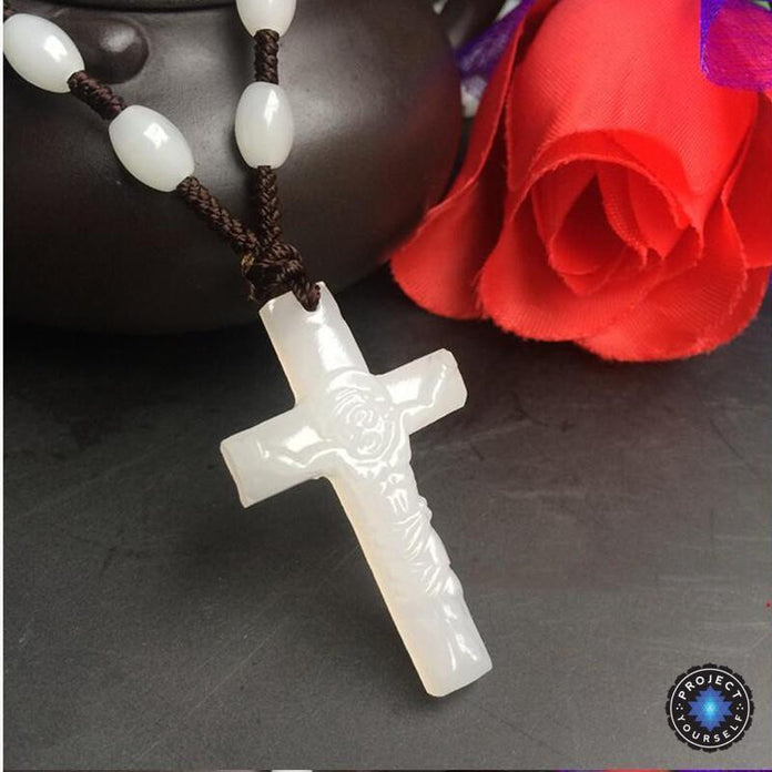 Natural Jade Cross Pendant Great Quality Religious Necklace Crucifix Cross Pedant Natural Green Jade