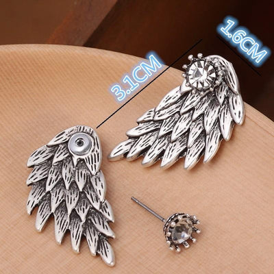 New Fashion Angel Wings Rhinestone Alloy Stud Earrings Earrings