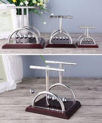 Newtons Cradle Steel Balls T Style Pendulum Perpetual Motion