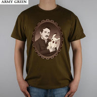 Nikola Tesla Modern Shirts Men Army Green / S