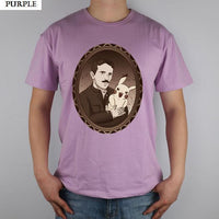 Nikola Tesla Modern Shirts Men Purple / S