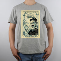 Nikola Tesla Shirt Men Gray / S Shirts