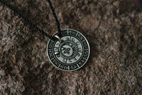 Old Moon Phase Zodiac Amulet Necklace
