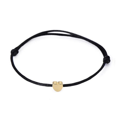 One Love Lucky Handmade Rope Bracelet Black - Gold Bracelet