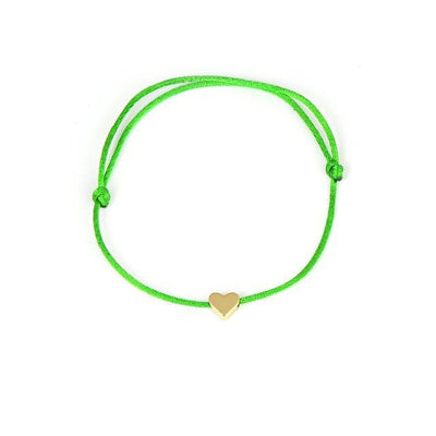 One Love Lucky Handmade Rope Bracelet Green - Gold Bracelet