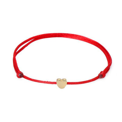 One Love Lucky Handmade Rope Bracelet Red - Gold Bracelet