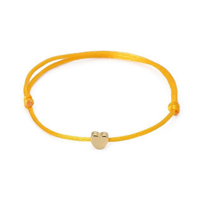 One Love Lucky Handmade Rope Bracelet Yellow - Gold Bracelet