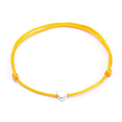 One Love Lucky Handmade Rope Bracelet Yellow - Silver Bracelet