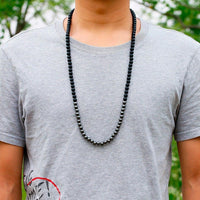 Onyx and Hematite Balancing Protection Necklace Necklace