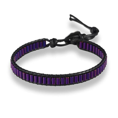Powerful Magnetic Hematite Energy Bracelet Purple Bracelet