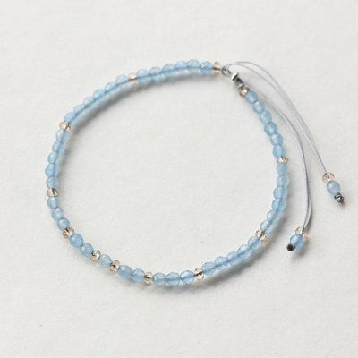 Powerful Mini Gemstone Bracelet Aquamarine Bracelet
