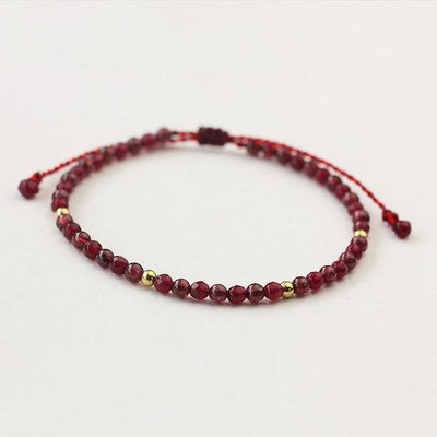 Powerful Mini Gemstone Bracelet Garnet Bracelet