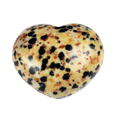 Powerful Reiki Heart Stone Dalmatian Jasper Crystals