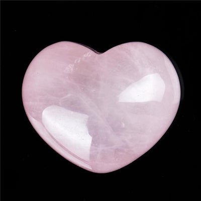 Powerful Reiki Heart Stone Rose Quartz Crystals
