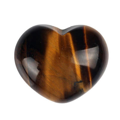 Powerful Reiki Heart Stone Tiger Eye Crystals
