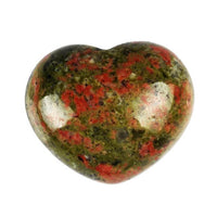 Powerful Reiki Heart Stone Unakite Crystals