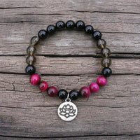 Tigers Eye and Onyx Personal Power Bracelet