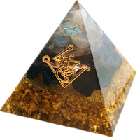 Cleansing Black Obsidian Orgonite Pyramid