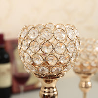 Elegant Crystal Candle Holder