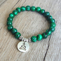 Malachite Buddha Beaded Bracelets