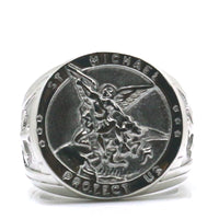 Saint Michael Stainless Steel Ring