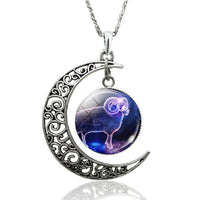 Stellular Constellation Crescent Moon Necklace