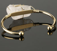 Beautiful Quartz Open Cuff Bangles