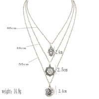 Exquisite Boho Om Multilayer Silver Necklace