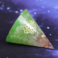 Natural White Crystal Healing Orgonite Pyramid